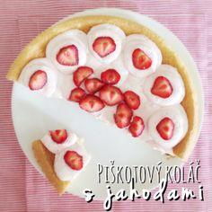Piškotový koláč s jahodami #kolac #jahody #konzumna