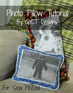 Learn how to sew a photo pillow! This make a great decoration or a gift for a grandparent. By Chelsea of GYCT on sewmccool.com