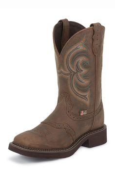 Justin Gypsy Women's Aged Bark Square Toe Cowgirl Boots