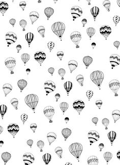 Hand-drawn 'Hot Air Balloon' design Art Print