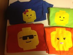 Lego party shirts - the bow for Katelyn