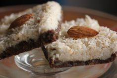 My kids LOVE these - Homemade Almond Joy Bars.