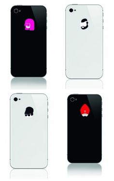 iPhone stickers that use the Apple on the back. We love Mr. T. And Audrey Hepburn!