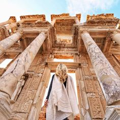 walk among the ruins of Ephesus in Izmir, Turkey.