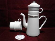 french drip enamelware biggin coffee pot by PyrexToPurses on Etsy