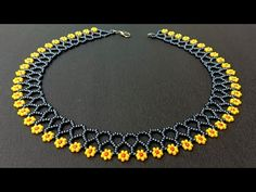 Flower Chain Necklace//How To Make Necklace At Home// Useful & Easy - YouTube Bead Jewellery, Beaded Jewelry, Handmade Jewelry, Beaded Necklace Patterns, Necklace Designs, Easy Youtube, Necklace Tutorial, How To Make Necklaces, Bridal Jewelry Sets