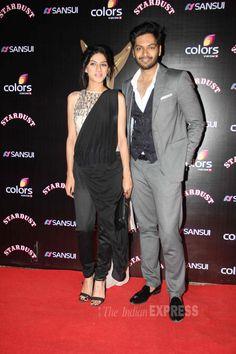 Ali Fazal and Sapna Pabbi at the Stardust Awards 2014. #Bollywood #Fashion #Style #Beauty
