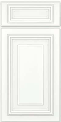 Kraftmaid: Square Raised Panel - Solid (AA3M) Maple in Dove White w/ Cinder Glaze - Base