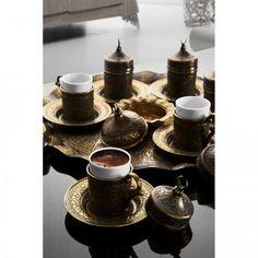 Bronze Coffee Set for 6