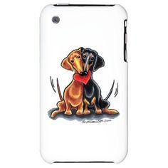 Smooth Dachshund Lover iPhone Case