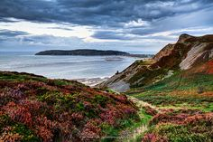 Lost on a mountain overlooking the Great Orme and Llandudno, North Wales