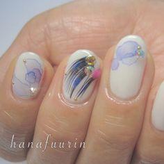 ふんわりが春らしい。水彩画ネイルでアートな指先に - Locari(ロカリ)