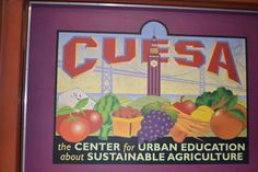 The company that educates and supports sustainable agriculture. They also throw great parties at the Ferry Building.