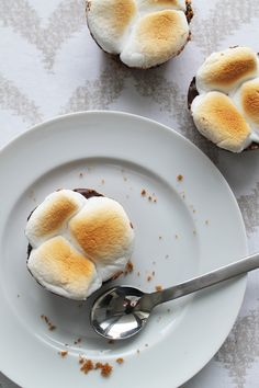 Smores cups: I omitted the butter and baked them for 5 minutes at 350 degrees.  Our new favorite dessert.