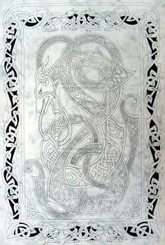 Celtic dog 2 by knotty-inks.deviantart.com
