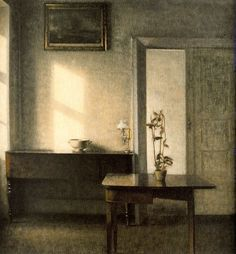 Interior with Potted Plant, Vilhelm Hammershøi 1910
