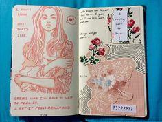 Art Journal Inspiration. Original pinner sez: pinterest// jociiiiiiiiiiii