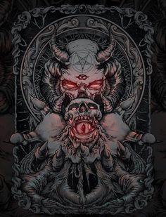 Pin by melissa on art i like ☮ in 2019 arte oscuro, arte mac Fantasy Kunst, Dark Fantasy Art, Dark Art, Arte Horror, Horror Art, Satanic Art, Evil Art, Arte Obscura, Demon Art