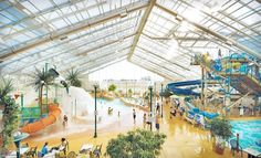 Indoor water park right near Niagara Falls-how amazing does this place look?