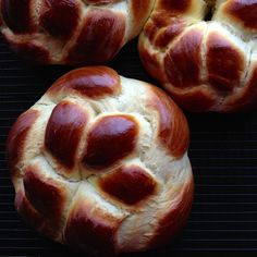 Armenian Easter Bread Rounds (Choereg).  It's not JUST for Easter!  :)  This eggy brioche-like bread is so amazing, we make it all year round.