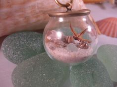 Sea Treasures Glass Globe and Natural by SignsCapeCodDesigns, $35.00