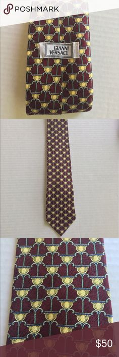 Versace men's tie Authentic men's Versace men's tie, in good conditions. Made in Italy and Silk material. Flaws:Tag is detaching from one side, but still attached. Gianni versace  Accessories Ties