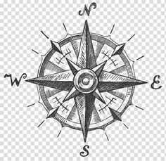 Compass logo, North Compass rose, ink in water transparent background PNG clipart Mandala Compass Tattoo, Compass Art, Compass Drawing, Compass Logo, Clock Tattoo Design, Compass Tattoo Design, North Compass, Fantasy Map Making, Nautical Star