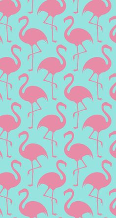 Pink flamingos on a green background
