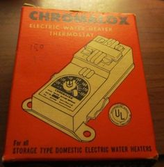 electric water heater thermostat Chromalox 1965 vintage R5025B nos new old stock #Chromalox