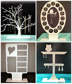 Items similar to Earring Bundle A Locket, Love Letter, Tree, Owl Earring Display) on Etsy Laser Art, Laser Cut Wood, Laser Cutting, Wood Block Crafts, Wood Crafts, Diy And Crafts, Diy Necklace Stand, Jewelry Stand, Laser Cutter Ideas