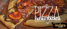 Pizza γλυκόπατάτατα με bacon και καραμελωμένα κρεμμύδια / Pizza with sweet potatoes,bacon and caramelized onions Salt And Pepper Recipes, Pizza Sandwich, Bacon, Sandwiches, Potatoes, Beef, Stuffed Peppers, Food, Autumn