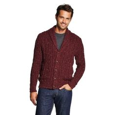"""MERONA Men's Shawl Collar Sweater Cardigan Size S Hello! This sale is for a gently used MERONA (Target brand) men's shawl collar cardigan size small. The color is called """"pomegranate"""" it is a burgundy color with white flecks all through out the cardigan. This sweater cardigan was only worn twice, no damage to this cardigan. Please let me know if you have any questions because all sales are final. Trades Merona Sweaters Cardigans"""