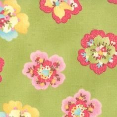 Nice for fussy cutting: MODA-Coquette-BIG-BOLD-PRINT-Green-Floral-QUALITY-100-COTTON-Fabric-FAT-QUARTER
