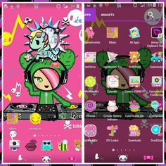 My screen today: I'm totally in kawaii mood. Tokidoki wallpaper which I found online with icons from the new theme from @tiffanydujoiethemes .the cute  beweather is from @droidliciousdiva and the battery app,the goweather and dayweekbar are from @debbiehan_pink . Thank you ladies for making my phone cute!    #teamandroid #novalauncher #tokidoki #tiffanydujoiethemes #droidliciousdiva #debbiehan_pink #cute #kawaii