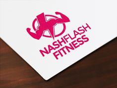 Logotype pro Nash Flash Fitness trenérku a výživovou poradkyni.