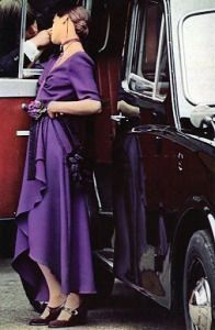 Lee Bender at Bus Stop dress. December 1970 Honey magazine.  Thanks to http://emmapeelpants.wordpress.com