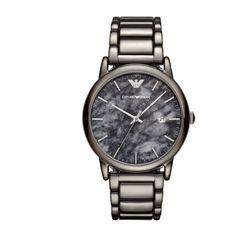 Search results for: 'emporio armani luigi marble gunmetal men s watch' Emporio Armani, Gents Watches, Watches For Men, Stainless Steel Watch, Stainless Steel Bracelet, Armani Brand, Armani Grey, Armani Watches, Watch Model