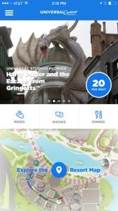 The Universal Orlando official app features tons of information about the parks.