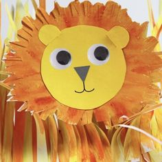 How to make this simple paper Lion – Make Film Play Disney Activities, Craft Activities For Kids, Preschool Crafts, Projects For Kids, Art Projects, Crafts For Kids, Arts And Crafts, Paper Crafts, Easy Crafts