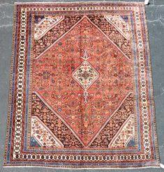 "Hand Woven Hamedan Rug or Carpet, 8' 7"" x 11' 7"""