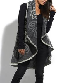 Look what I found on #zulily! Gray Wool-Blend Open Vest #zulilyfinds