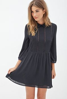 Pleated A-Line Dress | FOREVER21 - 2000117493