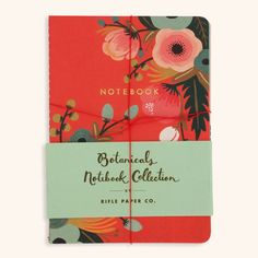 Three cute and colorful notebooks featuring foil-stamped covers and vintage-inspired interiors. The entire ...