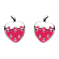Red earrings with the strawberries are so sweet that you would like to eat them! Made of silver. Packed in beautiful original box and elegant bag. Perfect gift for a baby girl!