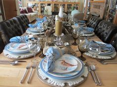 The Welcomed Guest: Sandpipers and Seagulls Tablescape