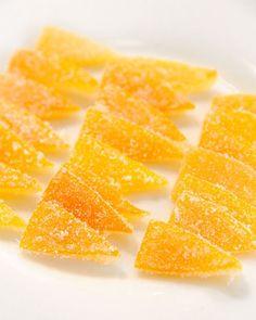 Candied Meyer Lemon Peel, Recipe from The Martha Stewart Show, February 2011