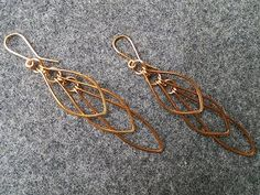 Leaves earing - How to make wire jewelery 222 - YouTube