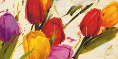 Tulips Art Print by Antonio Massa at Art.com