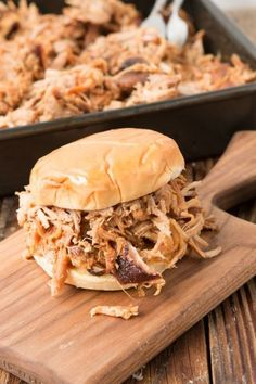 Cooking pork low and slow is the key to making this North Carolina pulled pork sandwich that's filled with smoky flavor.    Get the recipe at Oh Holy Basil.