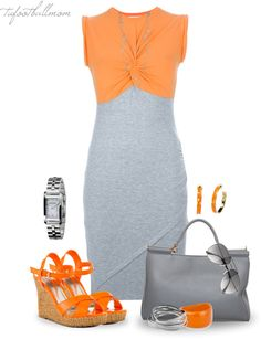"""T-Shirt Dress"" by tufootballmom on Polyvore"